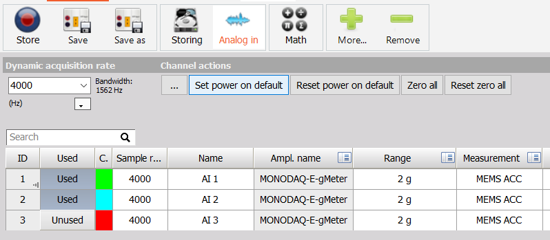 MonoDAQ-E-gMeter EtherCAT configuration | Monodaq